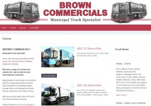 Brown Commercials website design