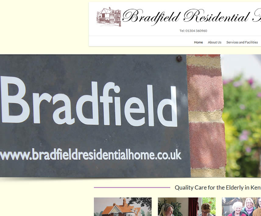 Bradfield Residential Care Home, Deal, Kent website design clients
