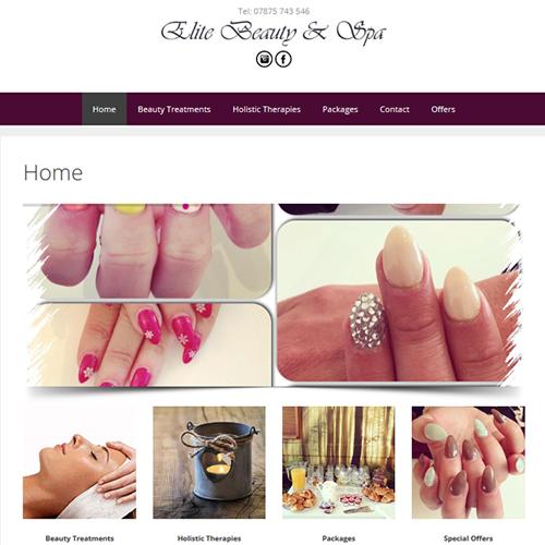 beauticians website design