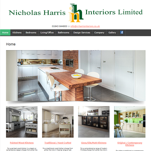 new website design for kitchen designer in kent