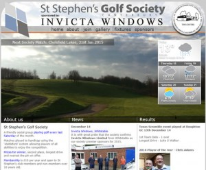 website design golf society in kent