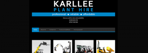 Karllee Plant Hire, Canterbury, Kent website design clients