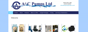 AC Pumps, Canterbury, Kent website design clients
