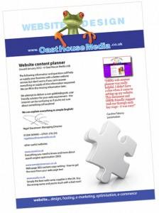 website design planner