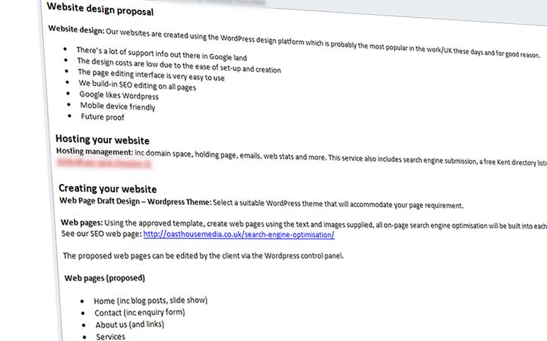 website design proposal email