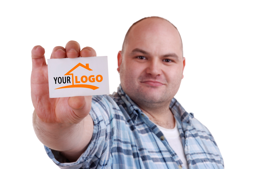 your logo on a business card
