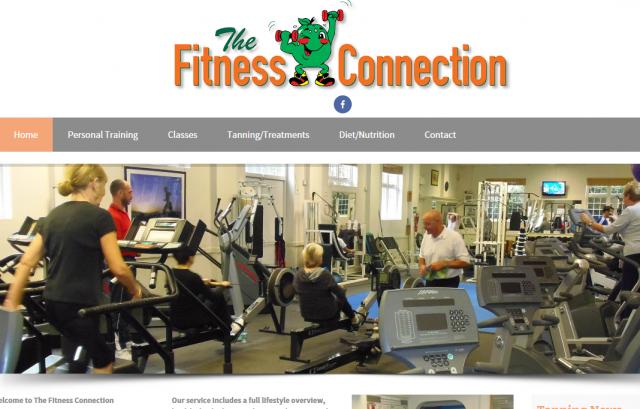 Fitness Connection, Sandwich website design