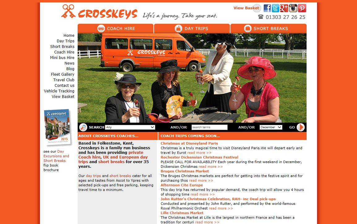 Cross_Keys_Coaches_Folkestone_website_design