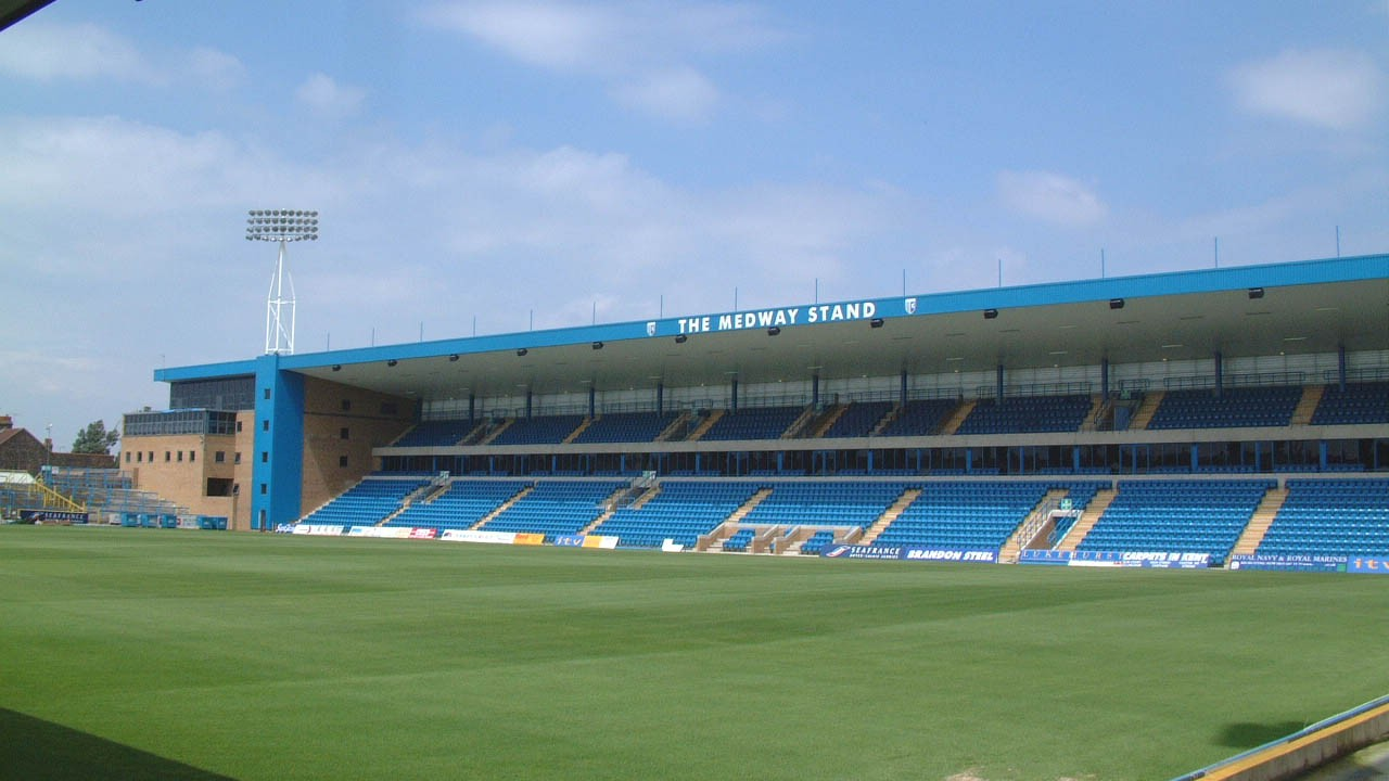 Gillingham football club Medway stand civil engineering