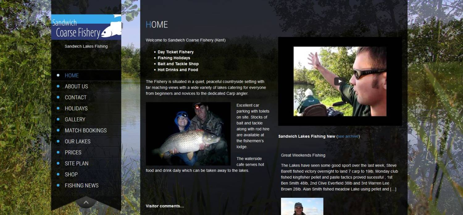 Sandwich_Lakes_website_design