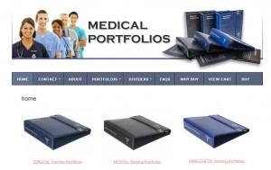medical portfolios website design