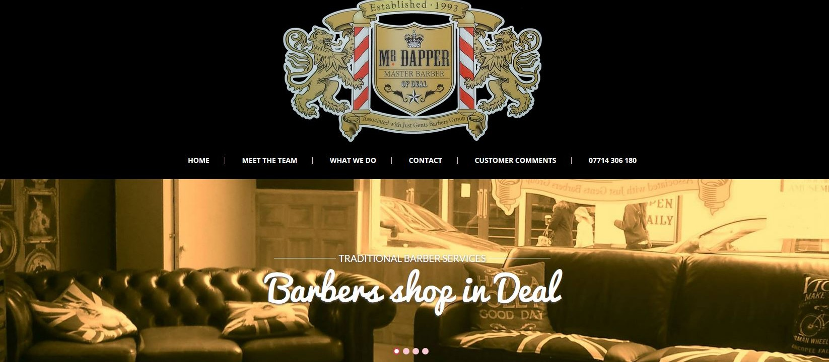 Mr Dapper barbers new website