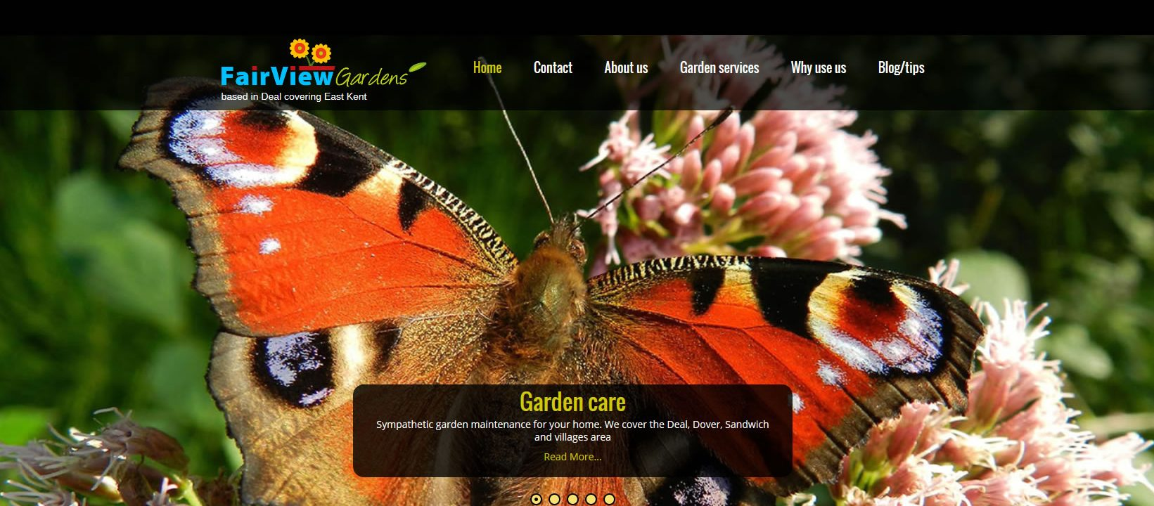new wordpress website for local garden maintenance co