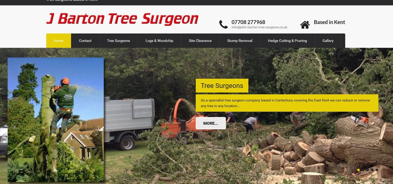 new website design for canterbury tree surgeon