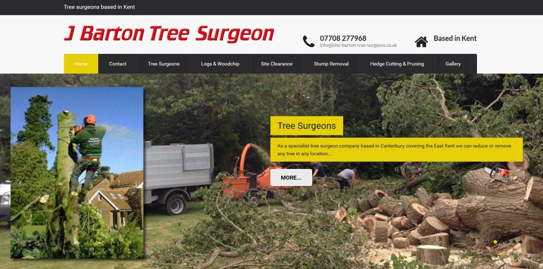 new website design for canterbury tree surgeon