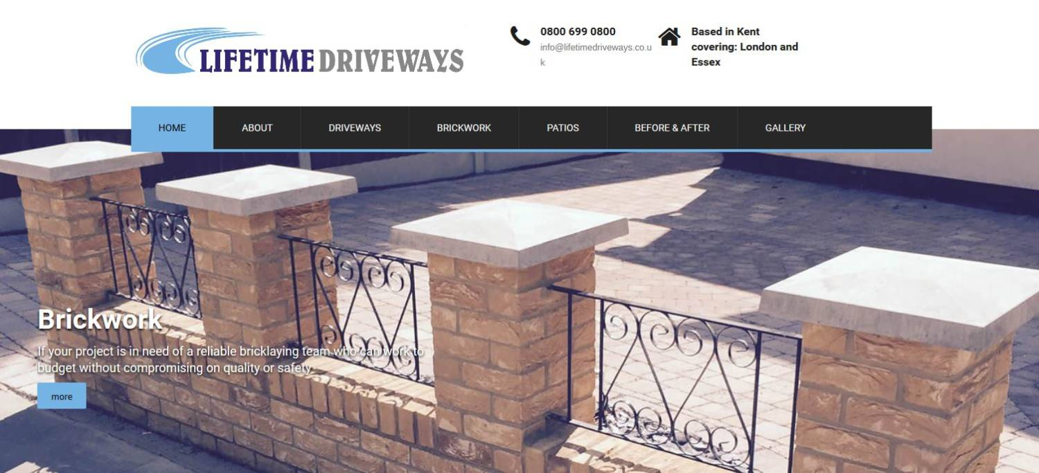 lifetime driveways website