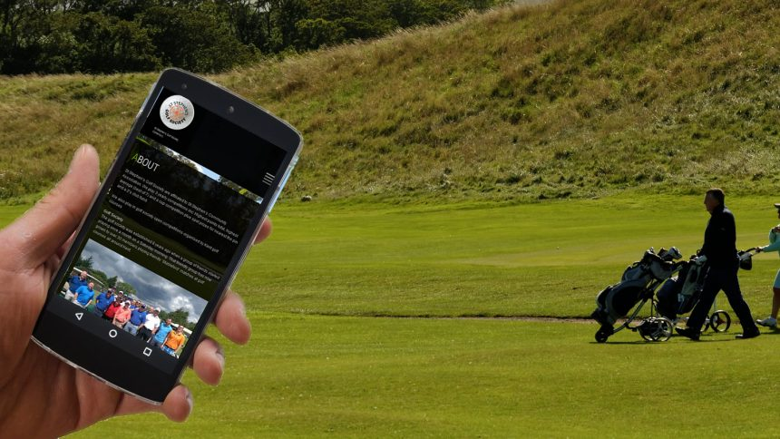 golf society mobile friendly website