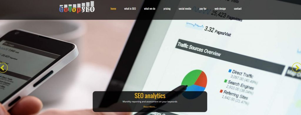 new website for seo company in kent