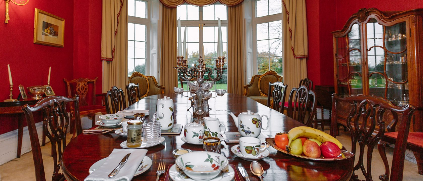 breakfast room at the old rectory b and b in deal kent