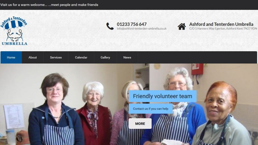 charity website design ashford and tenterden umbrella