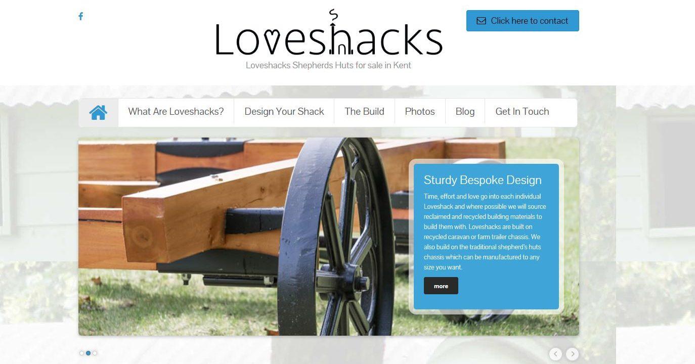 loveshack website design