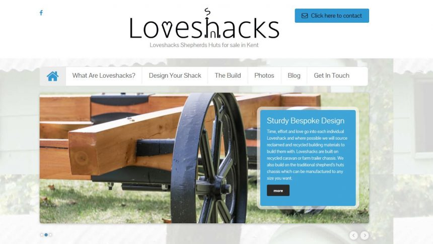 loveshack website design