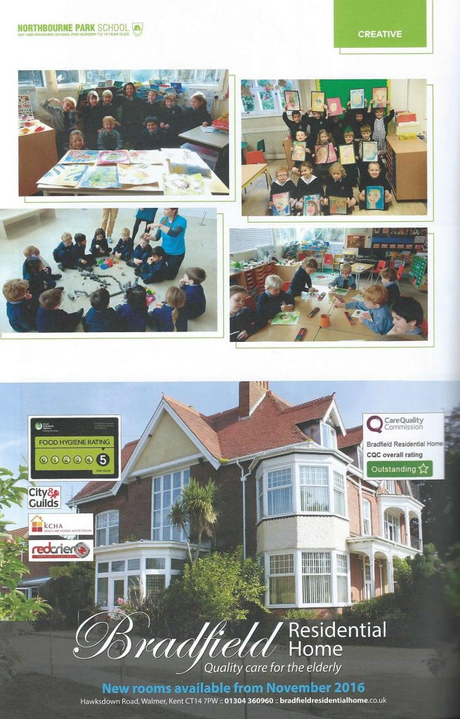 Bradfield advert in the Northbourne School magazine