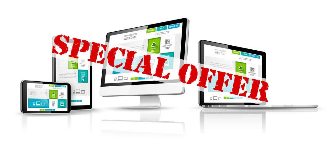 website re-design special offer