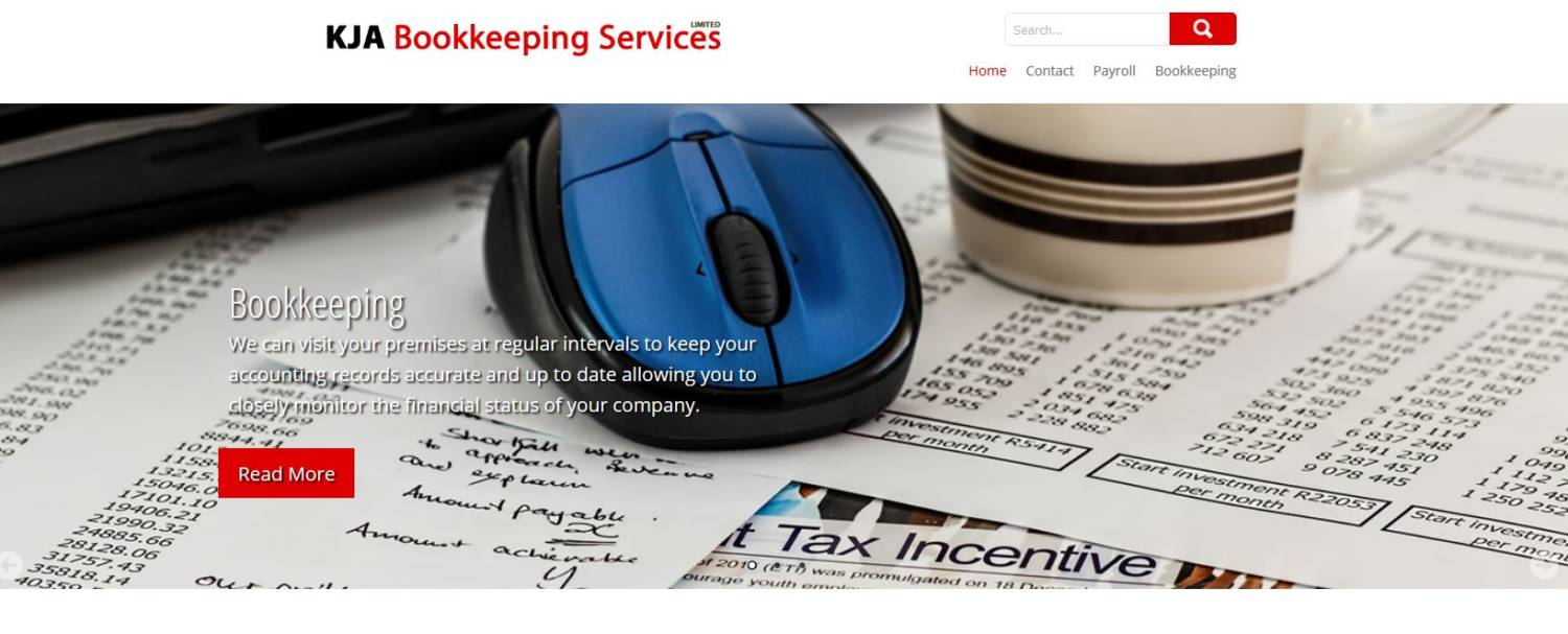 KJA bookkeeping new website design
