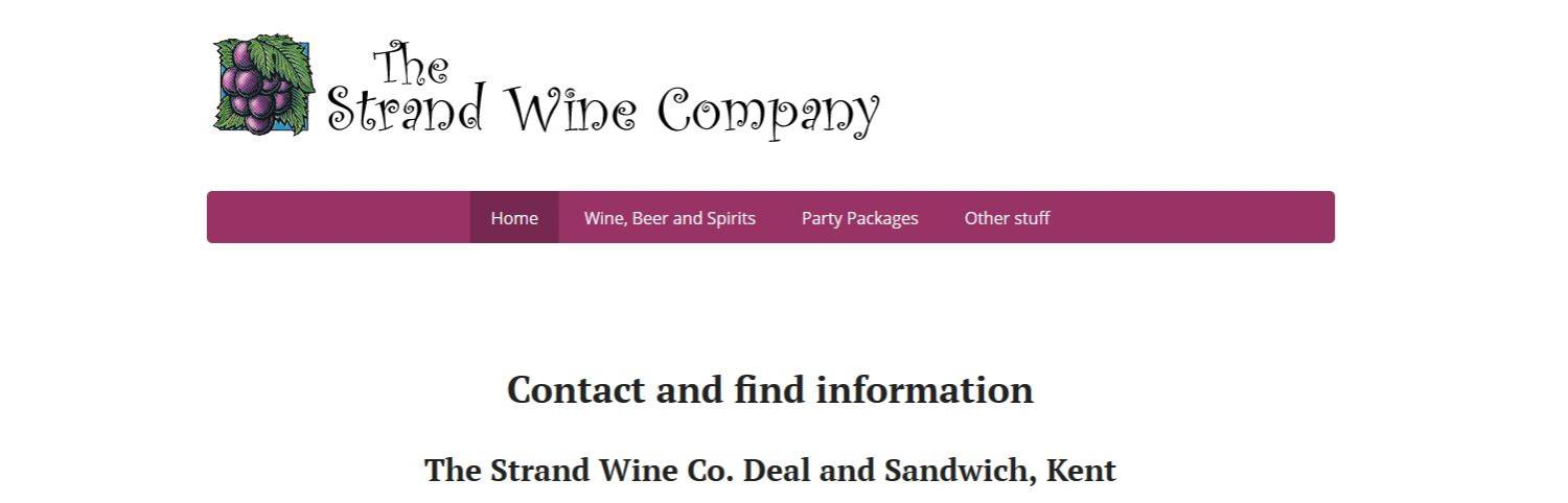 The Strand Wine Company website in Deal and Sandwich Kent