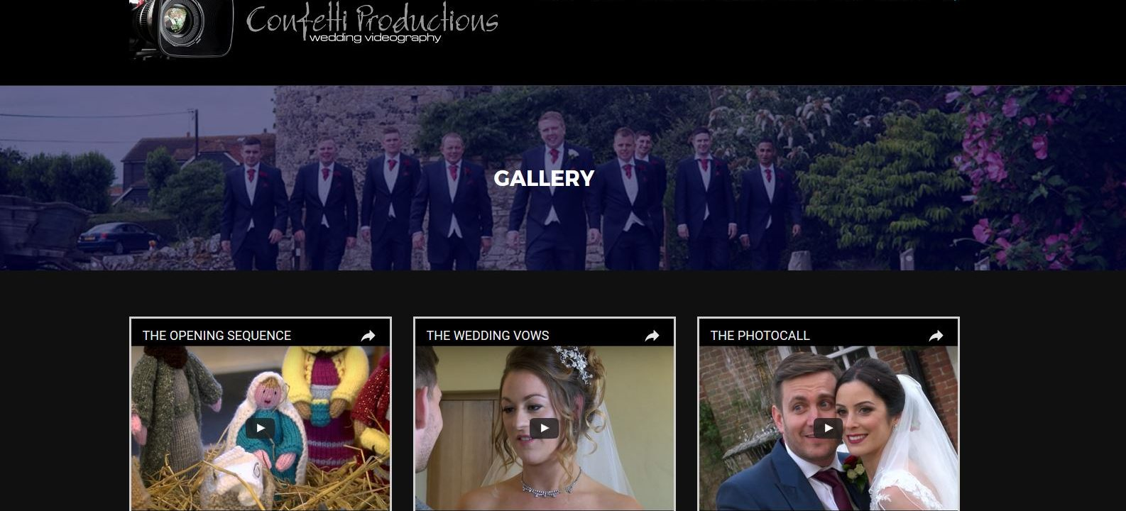 confetti videos new wordpress website design