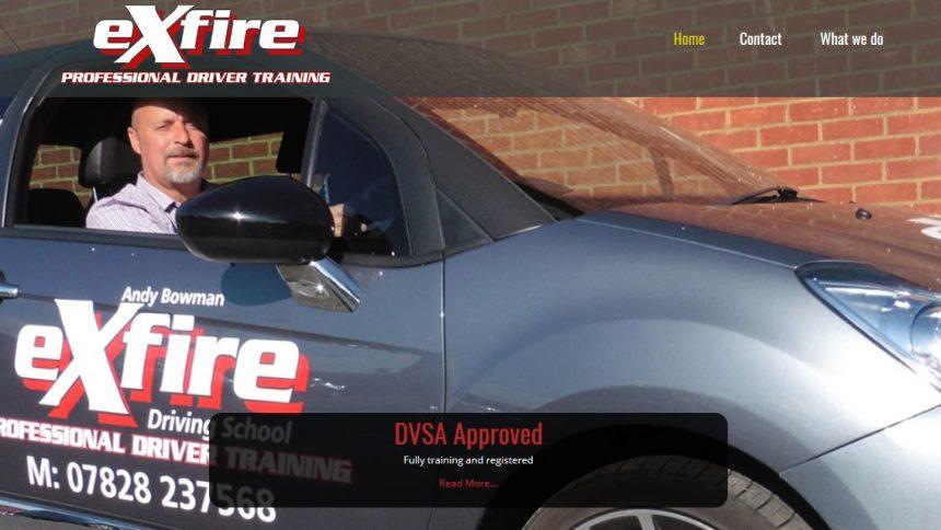 exfire driving school canterbury website design