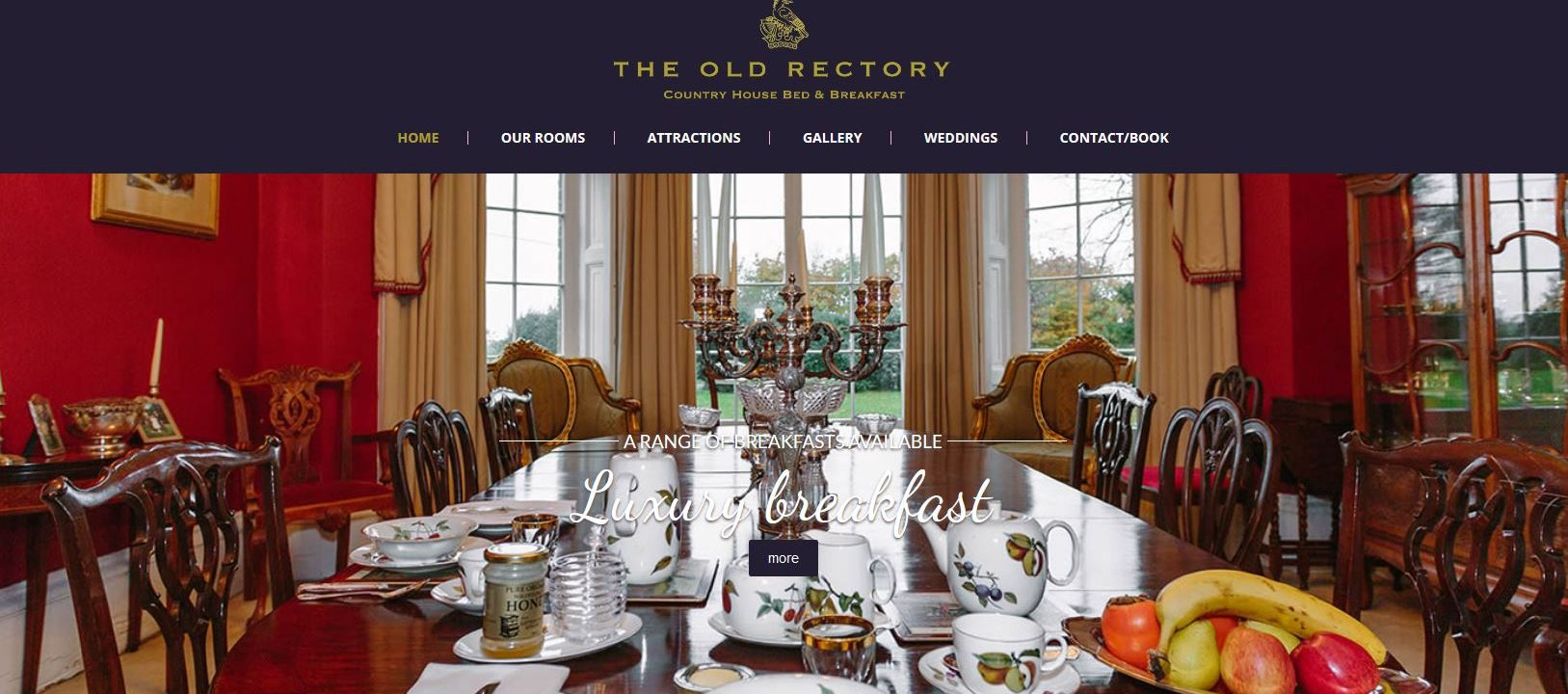 the old rectory in great mongeham in deal kent website design