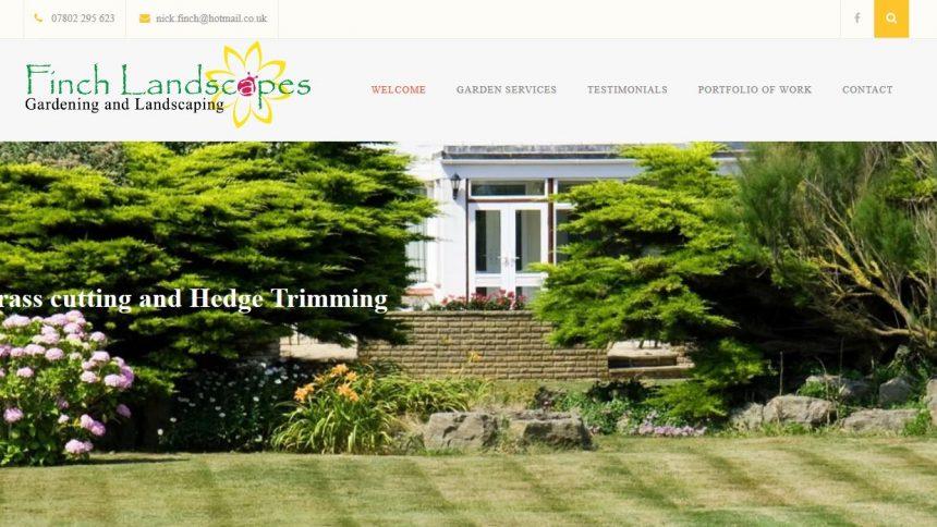 Finch landscapes new website
