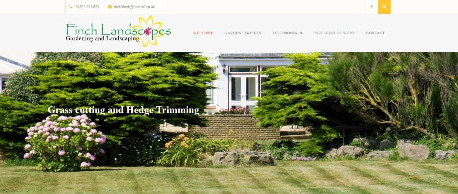 Finch landscapes new website