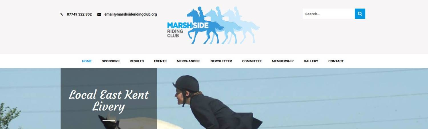 marshside riding club canterbury website design