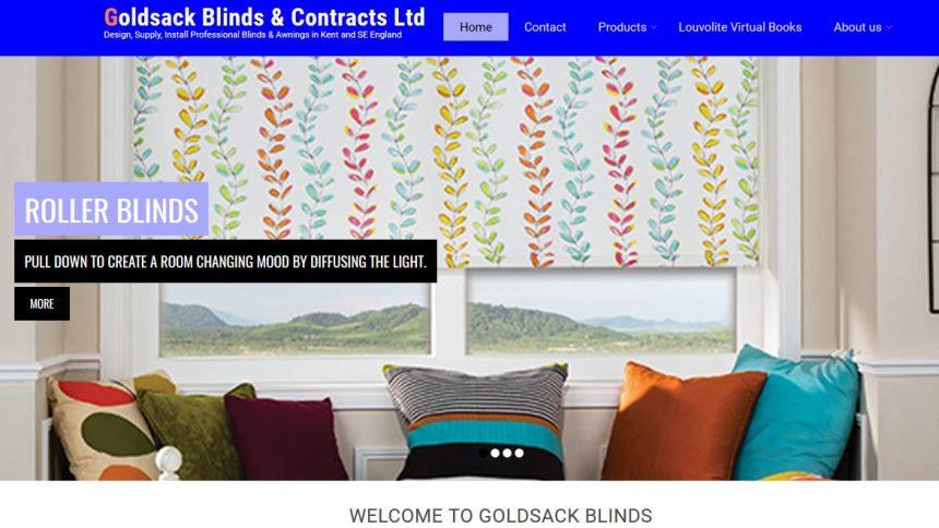 goldsack blinds redesign website