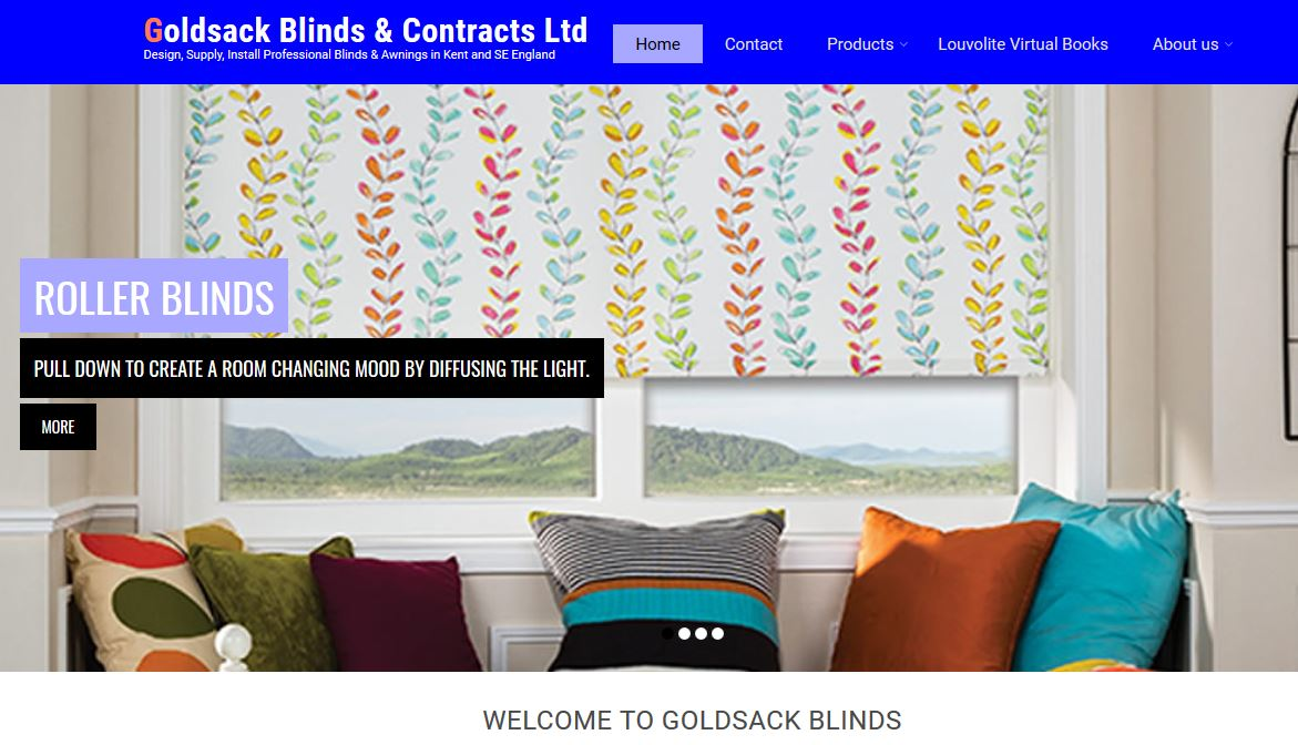 goldsack blinds redesign website