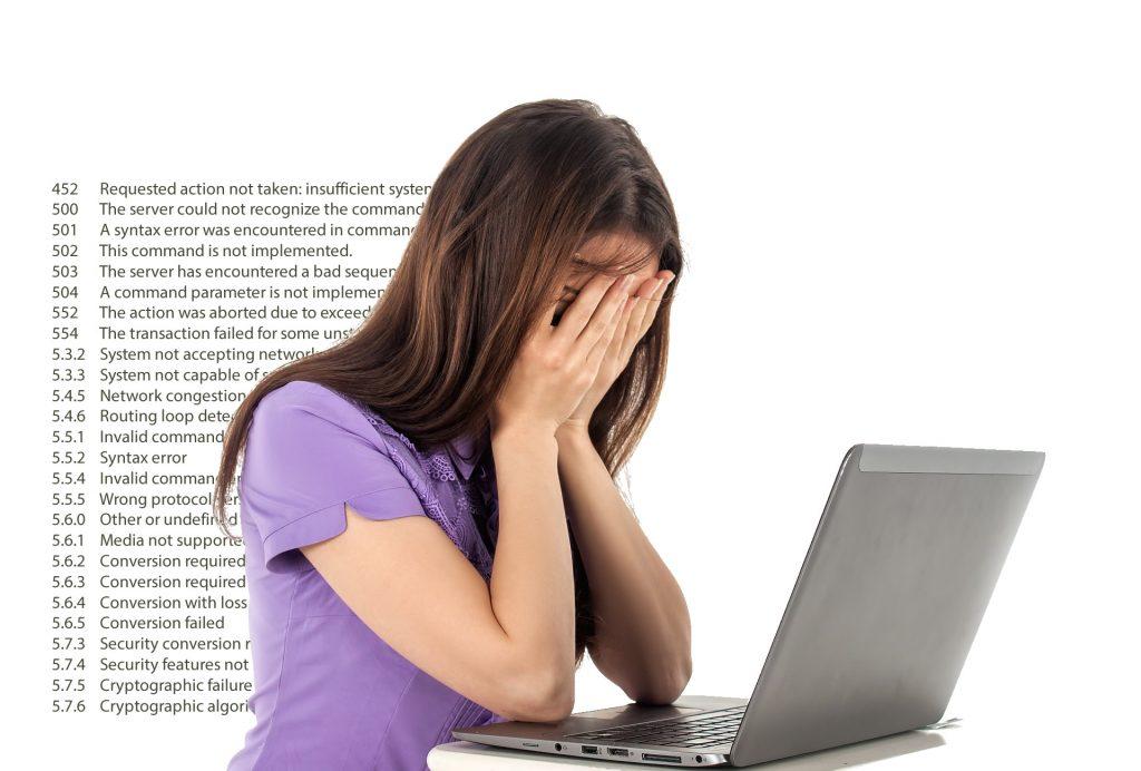 email error codes