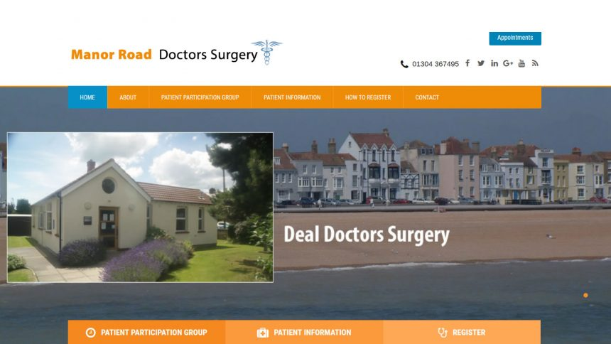 Manor Road doctors surgery wordpress website