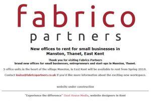 fabrico holding web page