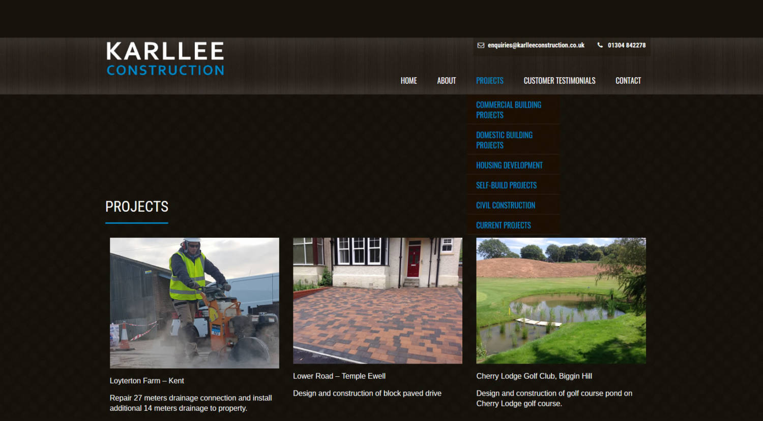 karllee new wordpress website design