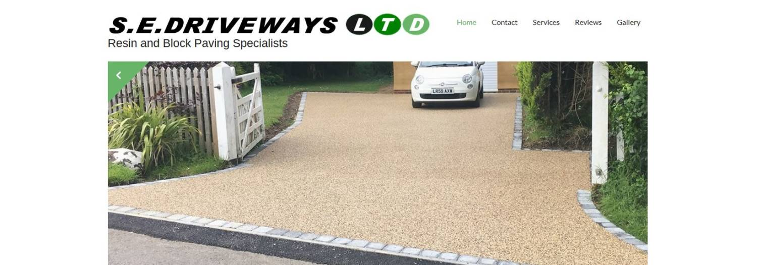 sedriveways website design header