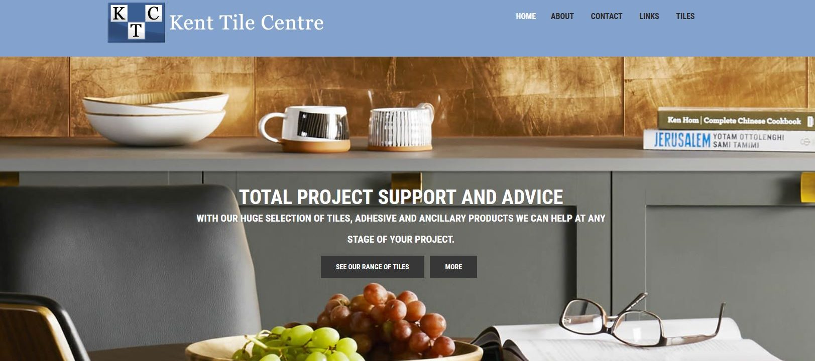 Kent tile centre website design