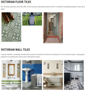 Kent tile centre website image gallery