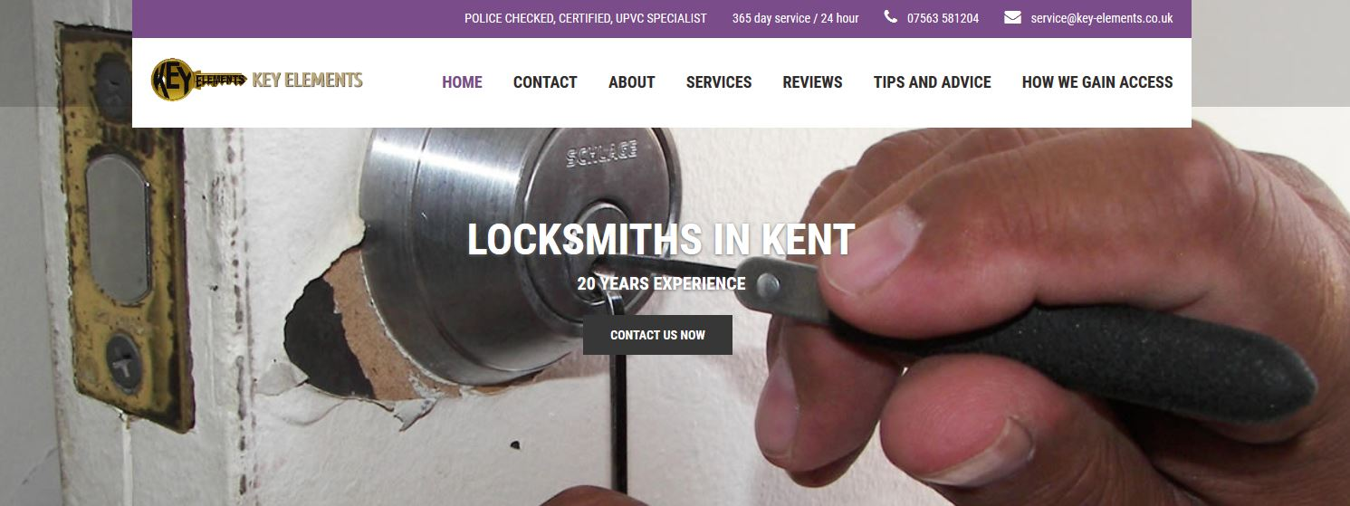 key element locksmith website design