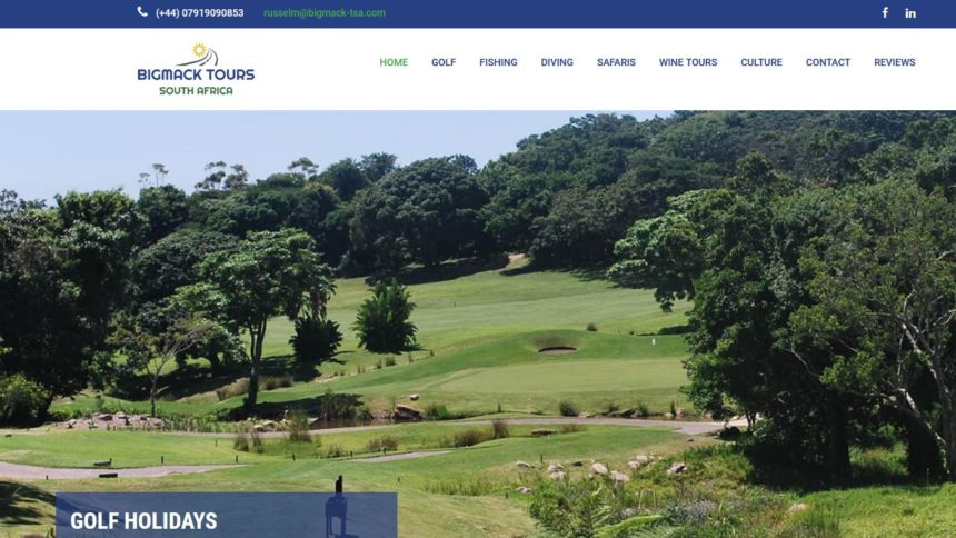 big mack golf holidays website design home page