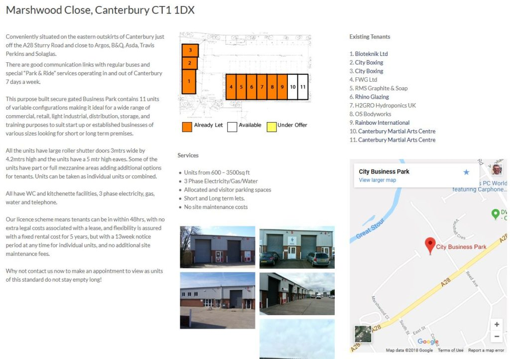 joiner holdings website design canterbury site page
