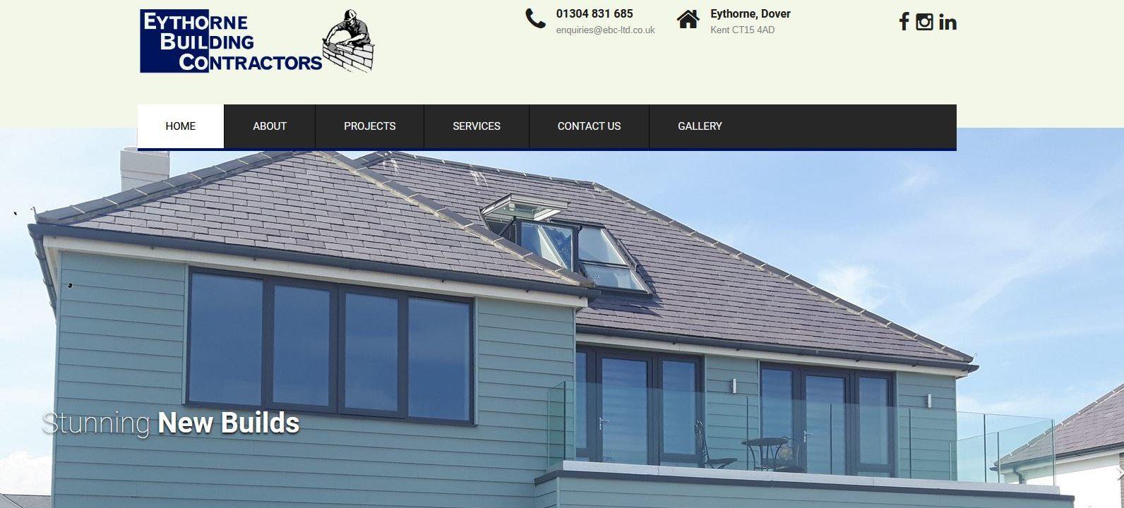 eythorne building new website