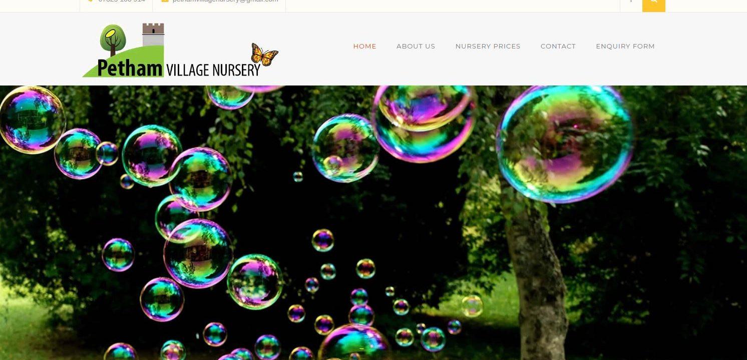 petham nursery school website live